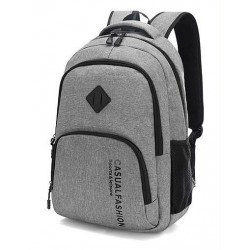 Slim School Backpack for Notebook and Casual Modern Brushed Books