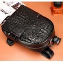 Texturized Female Backpack Jacare Leather Fashion Trend