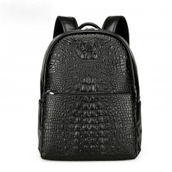 Texturized Female Backpack Jacare Leather Fashion Trend