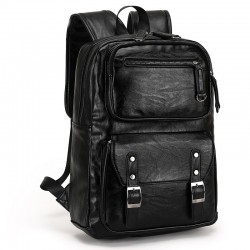Men's Polo Bag in Elegant Black Large Leather