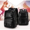 Men's Polo Bag in Elegant Black Large Leather