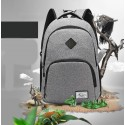Slim Notebook School and University Backpack USB Internal Battery