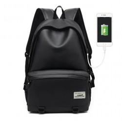 Mochila com Carregador de Bateria de Celular USB para Faculdade