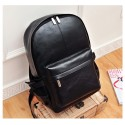 Men's College Backpack in Waterproof Black Leather