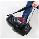 Men's College Backpack in Waterproof Black Leather