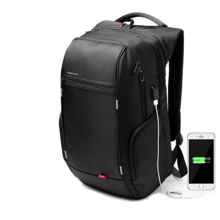Laptop Backpack with Internal Battery for USB Charging for Casual Cell Phone