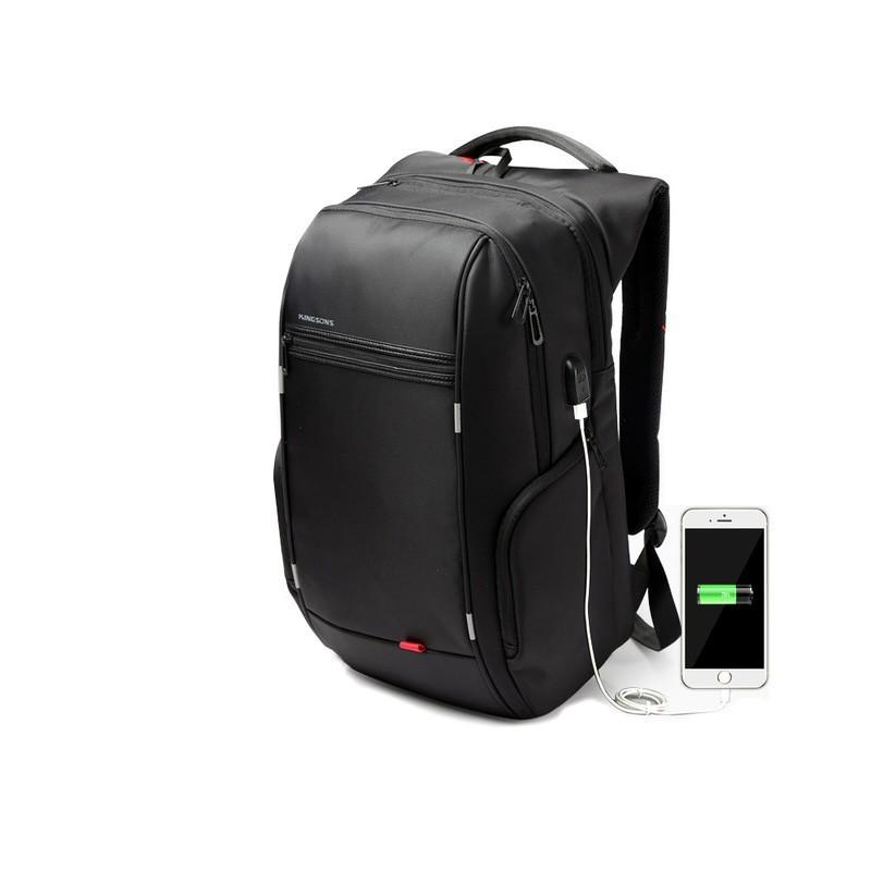 f617644bc Mochila Laptop com Bateria Interna USB para Carregar Celular Casual