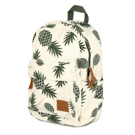 bbae21a0501cd Mochila Feminina estampada Tropical Abacaxi Bolsa de Escola Casual