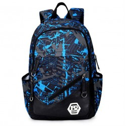 Printed Unisex Backpack Comfortable Casual School Bag