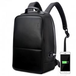 Mochila Escolar Casual Trabalho Bolsa de Costa Confortavel Preta USB
