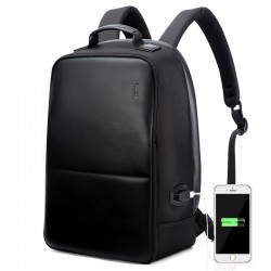 School Backpack Casual Work Comfortable Shore Bag Black USB