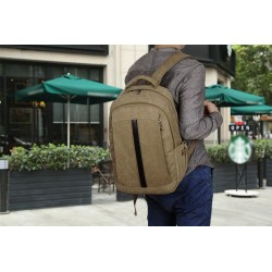 School Backpack Casual Work Bag Comfortable Back Brown