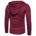 Men's Casual Hooded Sweater Fashion Winter Clean