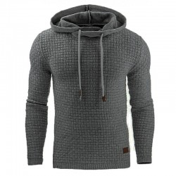 Men's Solid Sports Sweatshirt Casual Textured