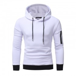 Men's Solid Hooded Sweatshirt Casual Fashionable Winter Fashion