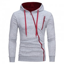 Casual Hooded Casual Zipper Hooded Sweatshirt Fashion Winter Transverse