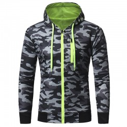 Men's Casual Camouflage Hooded Sweatshirt Ziper