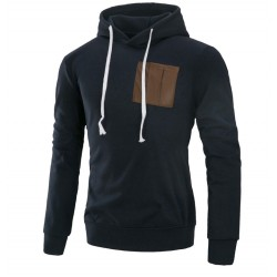Casual Male Kangaroo Casual Pocket Hooded Sweater Ziper