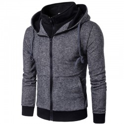 Mens Hooded Sweater Casual Fashion Winter Hooded Sweatshirt
