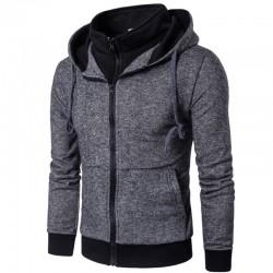 Moletom Masculino Ziper Com capuz Casual Moda Inverno