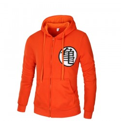 Men's Goku Hooded Sweatshirt Casual Ziper Fashion Winter