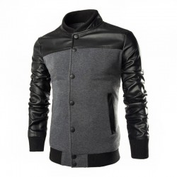 Jacketa Masculina Elegante Casual Bolso canguru Moda inverno