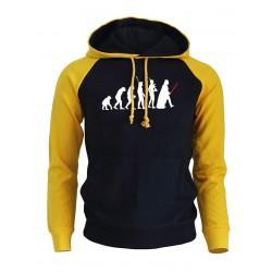 Mens Casual Printed Sweatshirt Winter Hooded Sweatshirt