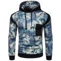 Men's Printed Hooded Sweatshirt Fashion Winter Casual