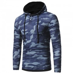 Men's Camouflaged Casual Hooded Sweatshirt Winter Fashion