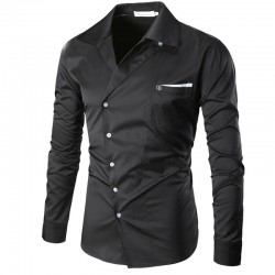 Stylish Men's Social Shirt Casual Long Sleeve Casual Work
