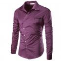 Stylish Men's Social Shirt Casual Long Sleeve Casual Work