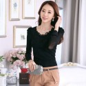 Income Working Women's Long Sleeve Blouse Pink