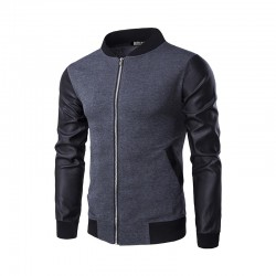 Fashion Casual Men's Jacket Winter Work Slim Stylish Zipper