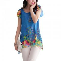 Blusas Florais Coloridas Feminina Moda Primavera