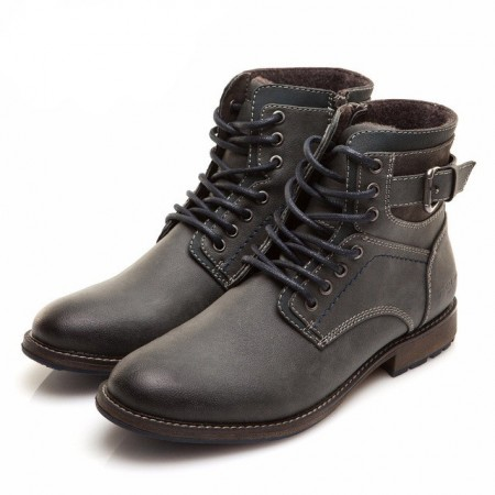Men's Xper Boot Medium Motorcycle Retro High Heel Pumps High