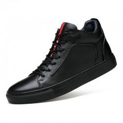 Tennis Boots High Top Men Roman Style Black Dekesen Fashion