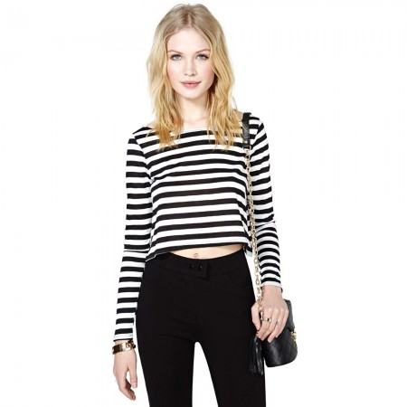 Blouse Shirt Striped Women's Casual Long Sleeve Fashion Young Modern