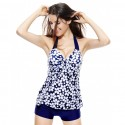 Set Tankini Swimsuit blouse and Shortinho Beach Women's Floral