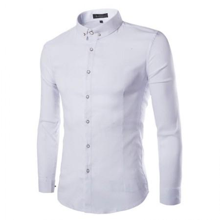 Shirt Casual Slim Fit Men's Long Sleeve