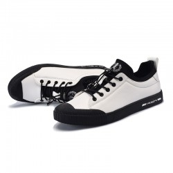 Sapatenis Fashion Casual Men Skater Style Black and White