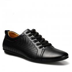 Sapato Social Masculino Bico Fino Elegante Preto Liso Brilho Polido