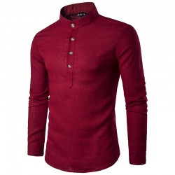 Stylish Casual Men's Long Sleeve Shirt