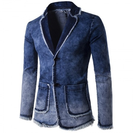 Blazer Masculino Jeans Formal Moda inverno Casual