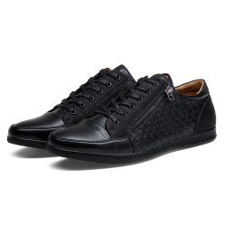 Sapato Masculino Elegante Casual Ziper Shenbo Estilo Social