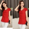 Elegant Blouse Casual Delicate Women Laranjada Style Party