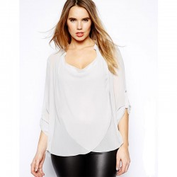 Blusa Casual Regata Estampada BBlusa Extra Grande Feminina Branca Elegante Plus Sizeranco e Preto Top Camiseta Feminina