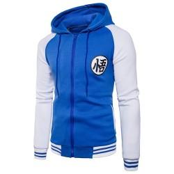 Moletom Dragon Ball Casual Masculino Estampado Casual Azul e Branco
