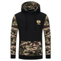 Camouflage Men's Casual Hooded Sweatshirt Winter Fashion