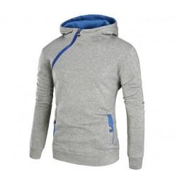 Moletom Masculino Casual Moda Inverno Capuz Zipper