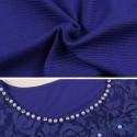 Blusa de Cristais Elegante Casual Feminina Moda Senhora Mulher